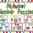 Alphabet Number Puzzles- Preschool or Kindergarten