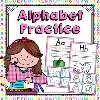Alphabet Practice - Handwriting Sheets & Playdoh Mats