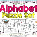 Alphabet Puzzles (Color and Black/White Option)