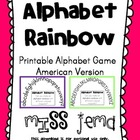 Alphabet Rainbow - Alphabetical Order Activity - American