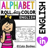 Alphabet Roll, Say, Color {a Beginning Sounds Gametivity }