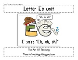 Alphabet Unit: Letter Ee and Magic E