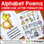 Alphabet Writing Poems - Lower Case Letter {Letter Writing