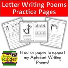 Alphabet Writing Poems - Lower Case Practice Pages for Let