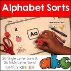 Alphabet and Initial Sound Sorts {Simply Kinder}