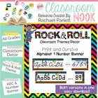 Alphabet and Number Banner {Rock and Roll Themed}