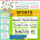 Alphabet and Number Banner {Sports Themed}