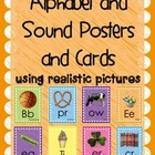 Alphabet and Sound Posters and Cards Using Realistic Pictures