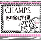 Amazing CHAMPS Posters - Safari Zebra
