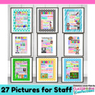 Amazing TEACHER APPRECIATION Subway Art Bundle {24 Posters}