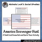 America Scavenger Hunt Task Card Game! Great end of year a