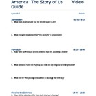 America the Story of Us Video Viewing Guides (Complete Series)