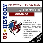 American History Critical Thinking Questions BUNDLED (Bloo