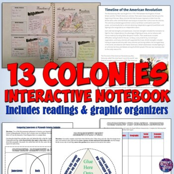 American History Interactive Notebook Pages for the Early Colonies