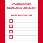 American Literature Common Core Standards Checklist in MS Word