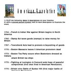 American Revolution Timeline Assignment