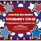 Vocabulary Cards-Social Studies: American Revolution/Revol