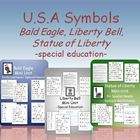 USA Symbols Unit - Liberty Bell, Statue of Liberty, and Ba