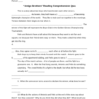 """Amigo Brothers"" Reading Comprehension Quiz Plus Answers"