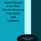 Amos Fortune Free Man Novel Literature Unit Study and Lapbook