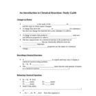 An Introduction to Chemical Reactions: Student Study Guide
