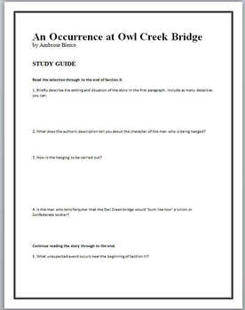 occurrence at owl creek bridge thesis statement