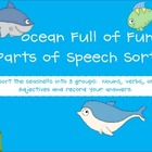 An Ocean Full of Fun Parts of Speech Sort