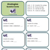 Analogies - Question Cards