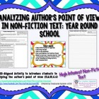 Analyzing Author's Point of View in Non-Fiction Text: Year