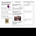 Ancient China and Egypt Brochure