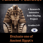 Ancient Civilizations - Egypt - Famous Pharaohs Research P