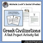Ancient Greece Greek Civilization Unit Project Assignment