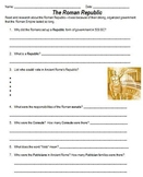 Ancient Rome Complete Unit & Research Project