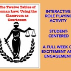 Ancient Rome: Twelve Tables of Roman Law Using Classroom a