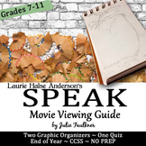 Speak Movie Graphic Organizers and Quiz Bundle