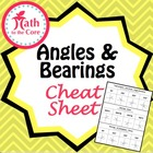 Angle Directions and Bearings - Cheat Sheet