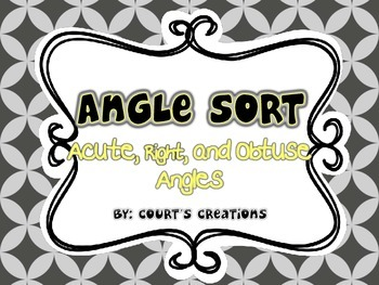 Angle Sort and Matching/Memory Game