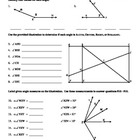 Angles (Identifying & Relationships) Worksheet