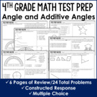 Angles and Additive Angles {4th Grade Common Core Test Pre