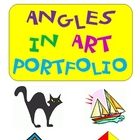 Common Core: Angles in Art Portfolio ~ Use a Protractor