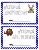Animal Adaptations Booklet