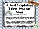 "Animal Adaptations ""I Have, Who Has"" Game"