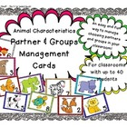 Animal Characteristics Partner & Group Management Cards (F