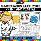 Animal Classification & Life Cycles Science Bundle