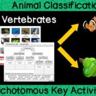 Animal Classification - Vertebrate Dichotomous Key Activity