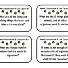 Animal Classifications & Life Cycles Flashcards/Game & Answer Key