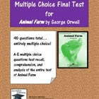 Animal Farm Multiple Choice Test