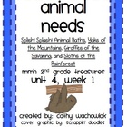 Animal Needs, MMH Treasures 2nd Grade, Unit 4 Week 1