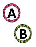 Animal Print Circle Letter Cards