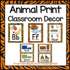 Animal Print Classroom Poster Bundle
